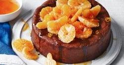 Pastel de mandarina integral con chocolate negro