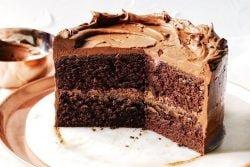 Pastel de 'sopa' de chocolate