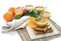 Crema de naranja sin huevos y sin gluten