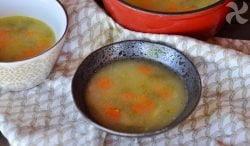 Sopa de patata, zanahoria y judías verdes