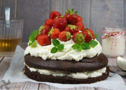 Tarta Imperial de Fresas con Chocolate