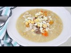 🍲DELICIOSA Sopa de picadillo con GARBANZOS y FIDEOS en THERMOMIX🍲 | Receta fácil