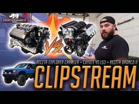Mustang ( Coyote ) vs Camaro ( LS3 ) #ClipStream #Receta ( Explorer Crawler )