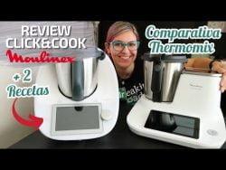 OPINIÓN Robot de Cocina CLICK & COOK MOULINEX Comparativa THERMOMIX + Recetas