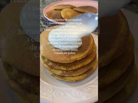 Pancakes de Zanahoria y avena   esponjosas y fáciles #receta #saludable #pancakes #desayunosaludable