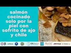 #shorts #receta salmón a la plancha con sofrito de ajo y chile de árbol